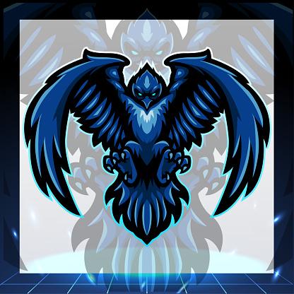 Raven mascot. esport logo design