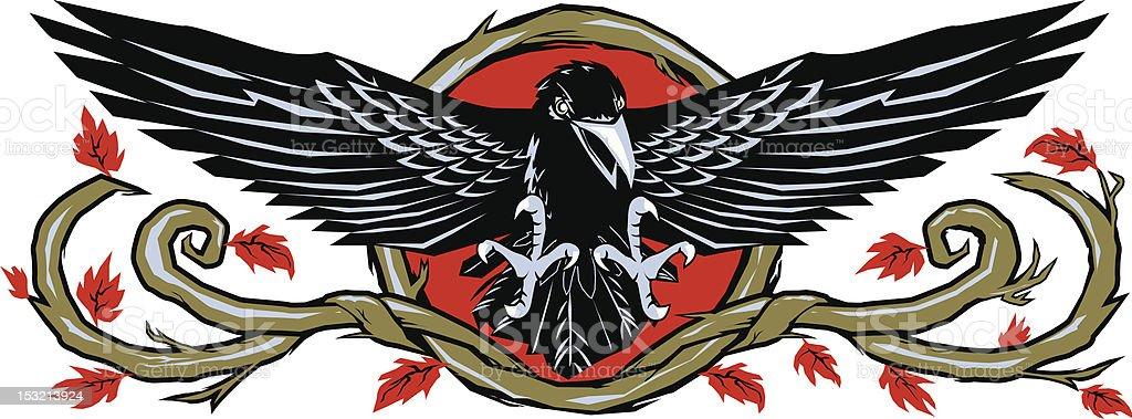 Raven Wood royalty-free stock vector art