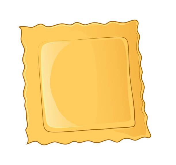 Ravioli pasta icon. Cartoon of ravioli pasta vector icon for web design isolated on white background Ravioli pasta icon. Cartoon of ravioli pasta vector icon for web design isolated on white background ravioli stock illustrations