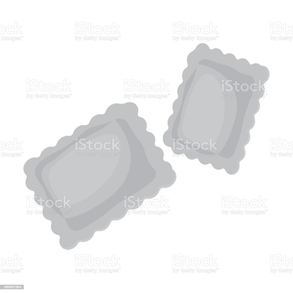 Ravioli pasta icon in monochrome style isolated on white background. Types of pasta symbol stock vector illustration. royalty-free ravioli pasta icon in monochrome style isolated on white background types of pasta symbol stock vector illustration stock vector art & more images of cooking