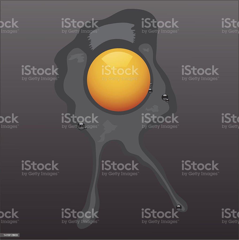 Raw egg royalty-free stock vector art