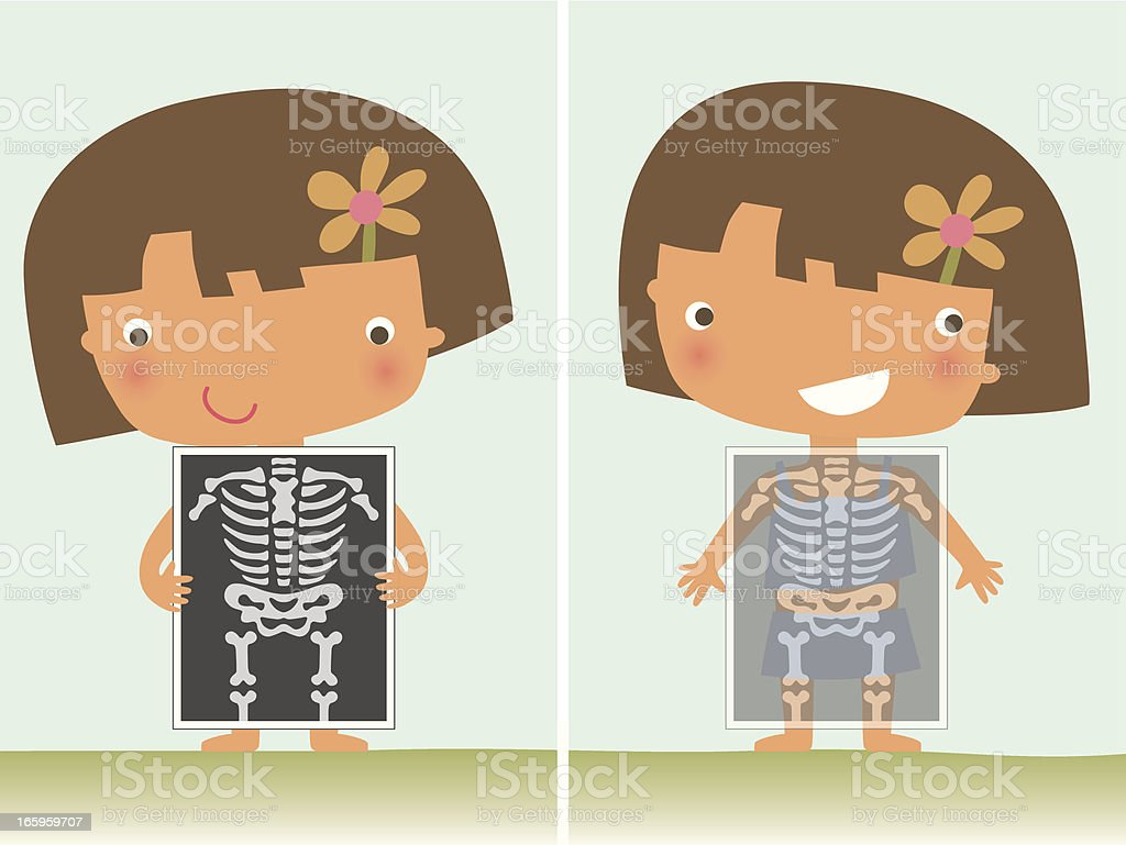 X Ray Girl vector art illustration