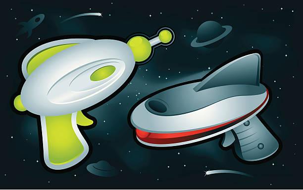 Ray Guns vector art illustration