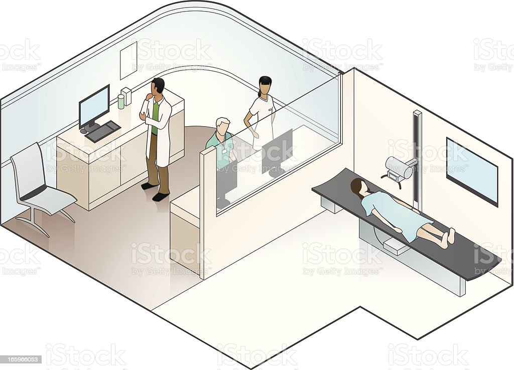 X Ray Machine Illustration vector art illustration
