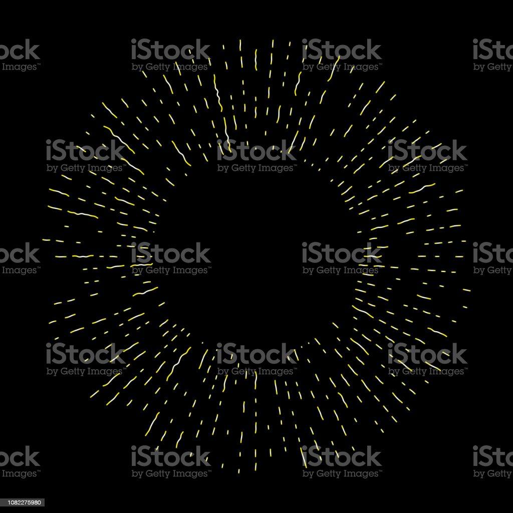 ハロー光とカトリックの光線光線に分離黒です。アート タトゥー参照テンプレート。宗教のプライドと栄光のゴールドのシンボルです。天使と聖人リング ニンバス。ベクトル。 ベクターアートイラスト