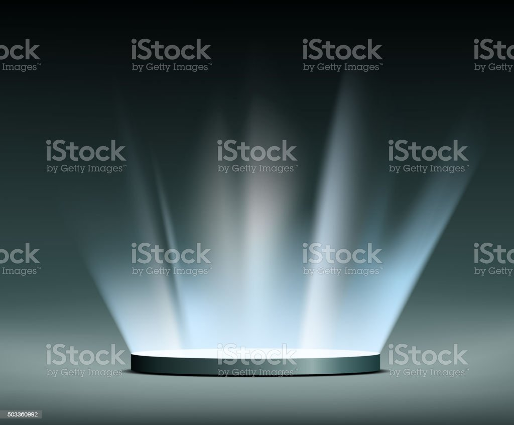 Rays of light. Hologram. vector art illustration
