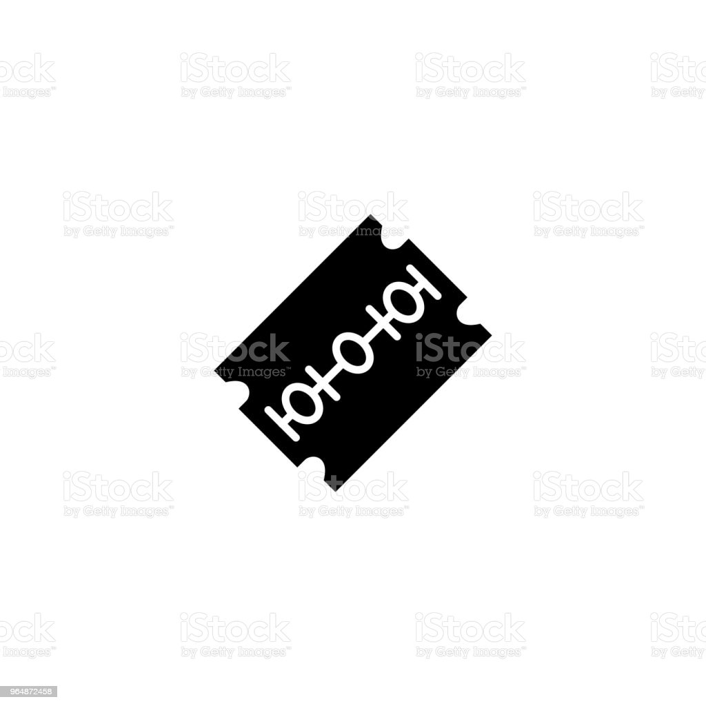 Razor blade black icon concept. Razor blade flat  vector symbol, sign, illustration. royalty-free razor blade black icon concept razor blade flat vector symbol sign illustration stock vector art & more images of at the edge of