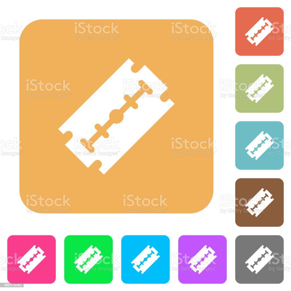 Razor blade rounded square flat icons razor blade rounded square flat icons - stockowe grafiki wektorowe i więcej obrazów ciąć royalty-free
