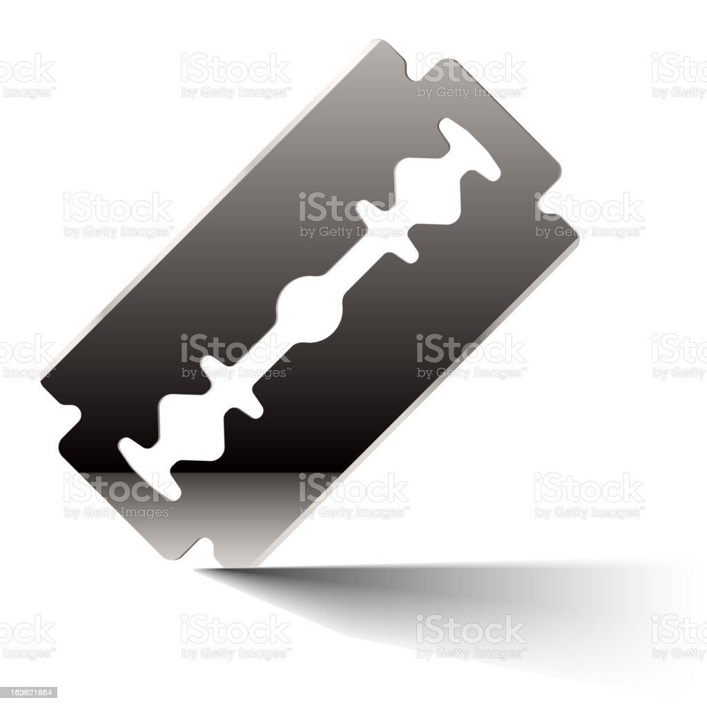Razor blade vector art illustration