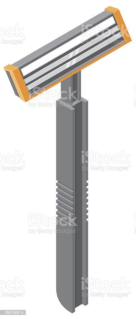 Razor vector art illustration