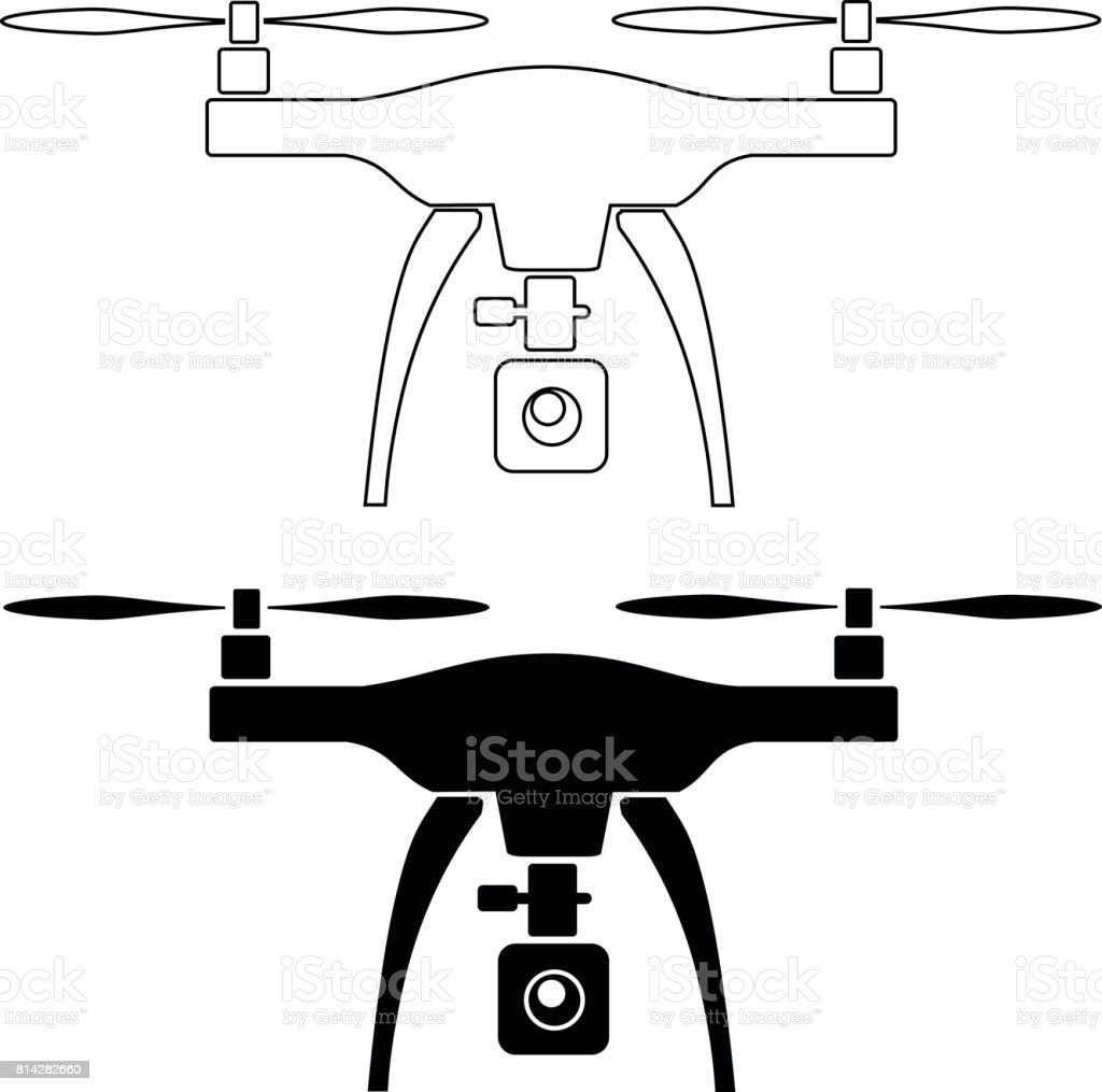 Rc Drone Quadcopter With Camera Royalty Free Stock Vector Art