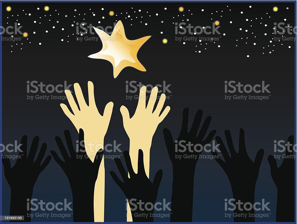 Reach for Stars royalty-free stock vector art