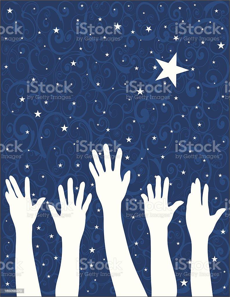 Reach for the Stars vector art illustration