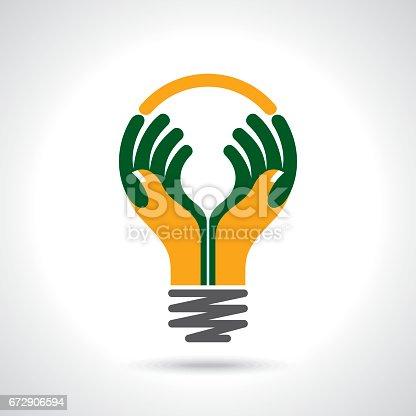 reach idea with human hands