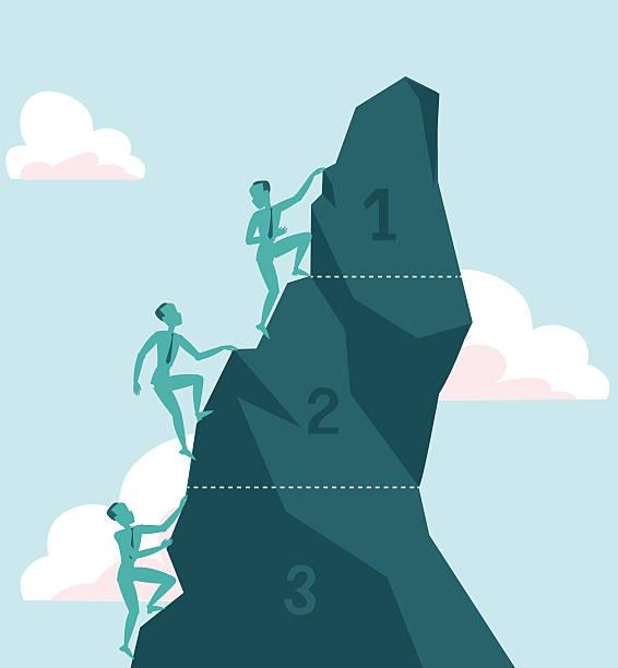 Reach Peak vector art illustration