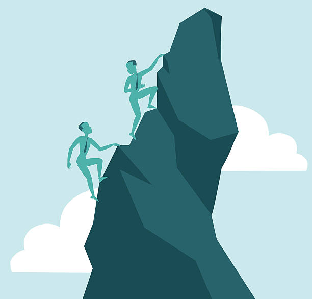 Reach the peak vector art illustration
