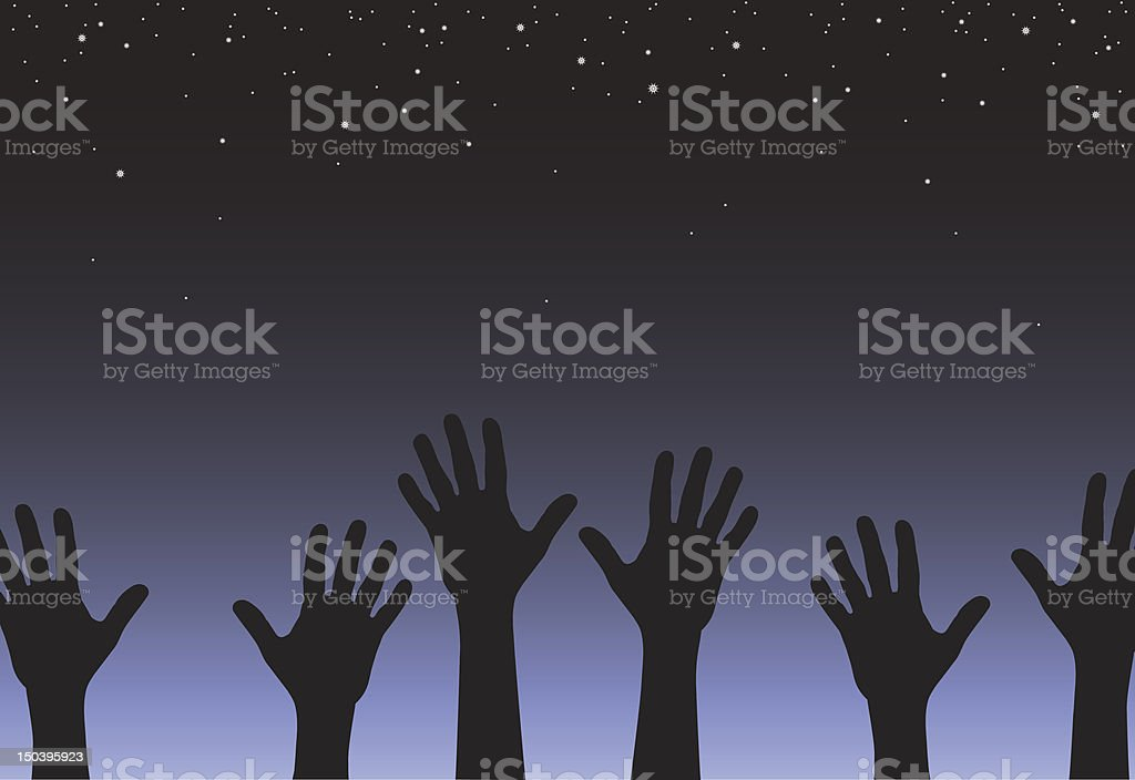 Reach royalty-free stock vector art