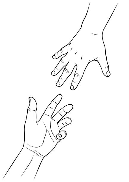 627 Drawing Of The Hand Reaching Out Illustrations Royalty Free Vector Graphics Clip Art Istock