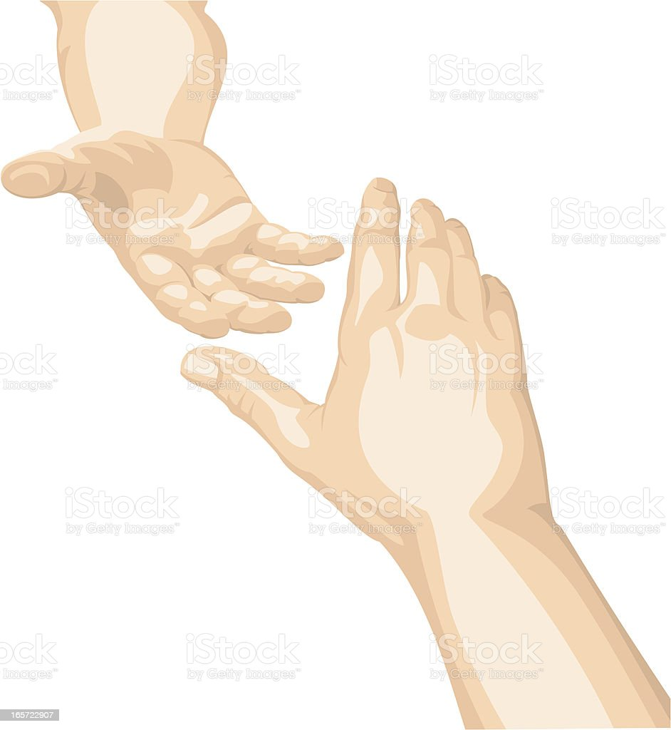 Reaching Out For Help royalty-free stock vector art