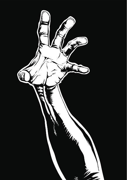 Reaching up vector art illustration