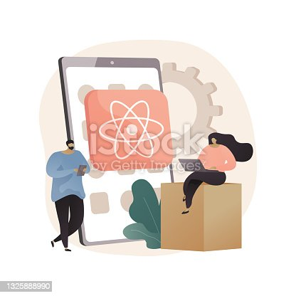 istock React native mobile app abstract concept vector illustration. 1325888990