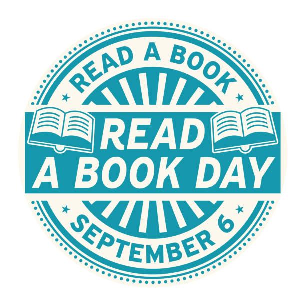 read a book day, september 6 - ważne miejsce w świadomości narodowej stock illustrations