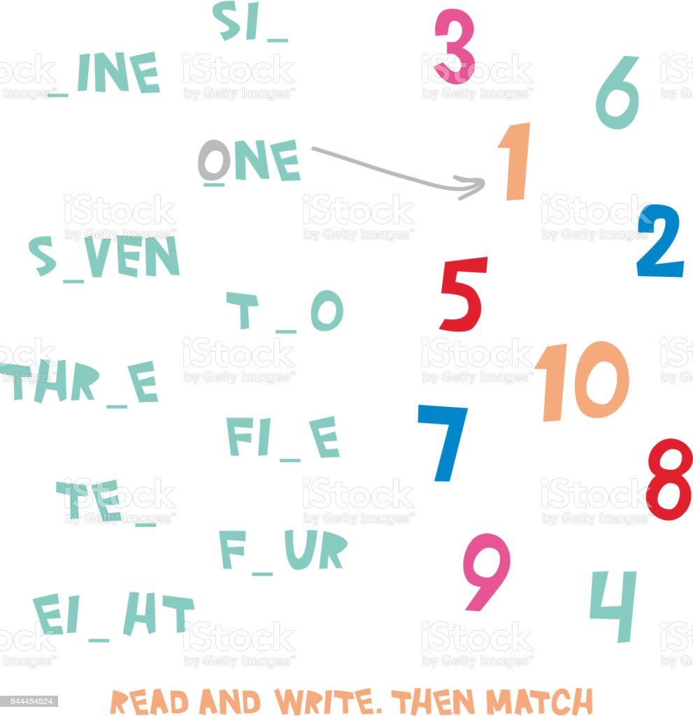 Okuma Ve Yazma Sonra Mac Rakamlar 110 Cocuklar Kelime Ogrenme