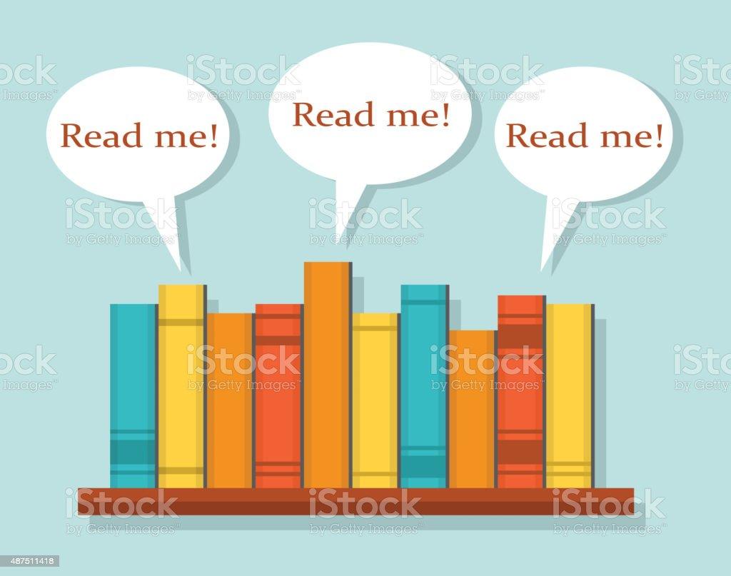Read Books vector art illustration