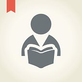 Reader icon,vector illustration.