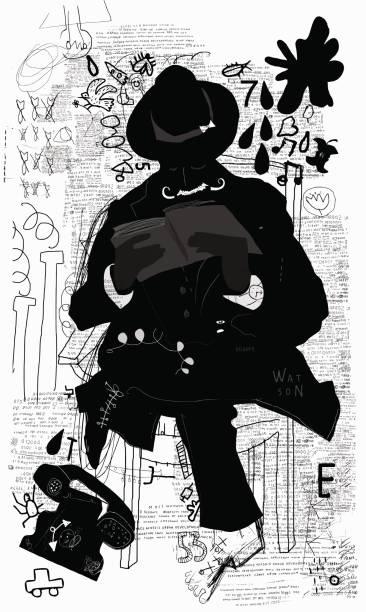 Reader vector art illustration