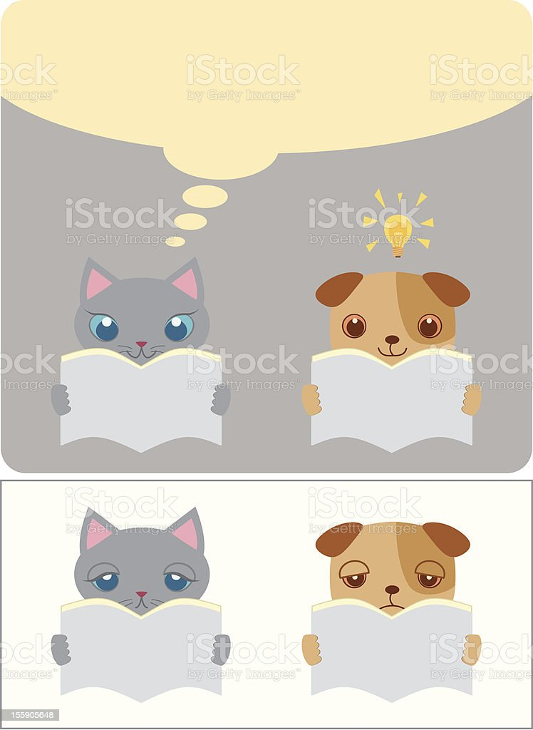 reading a book 2 royalty-free stock vector art