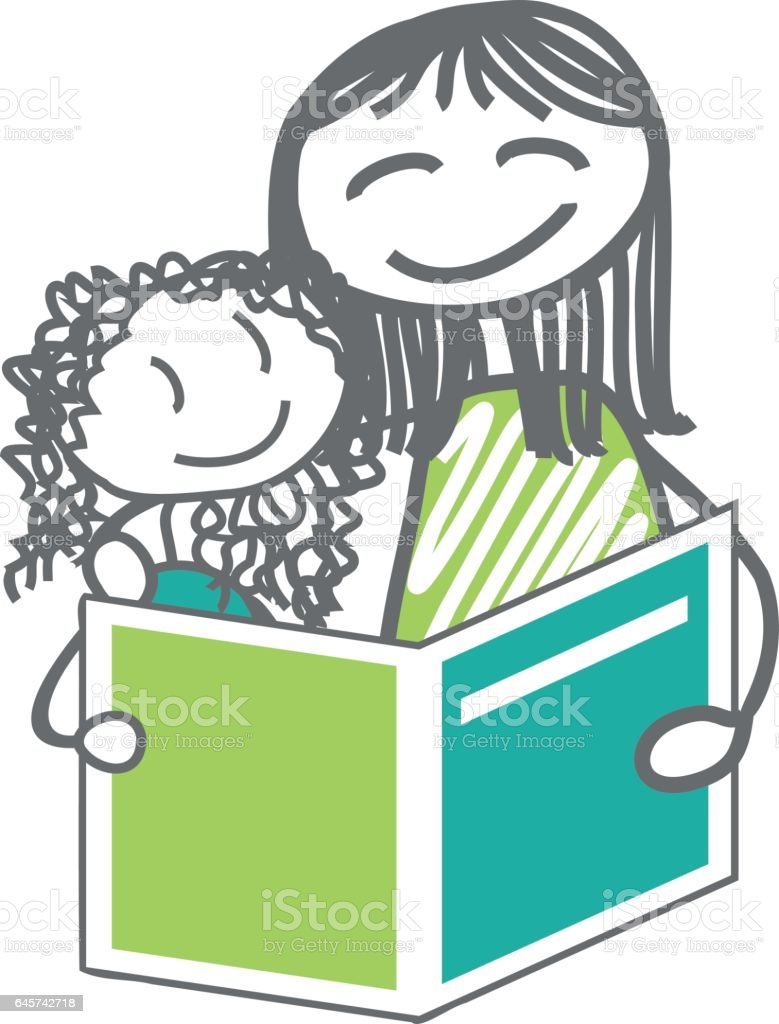 Reading and homework illustration vector art illustration