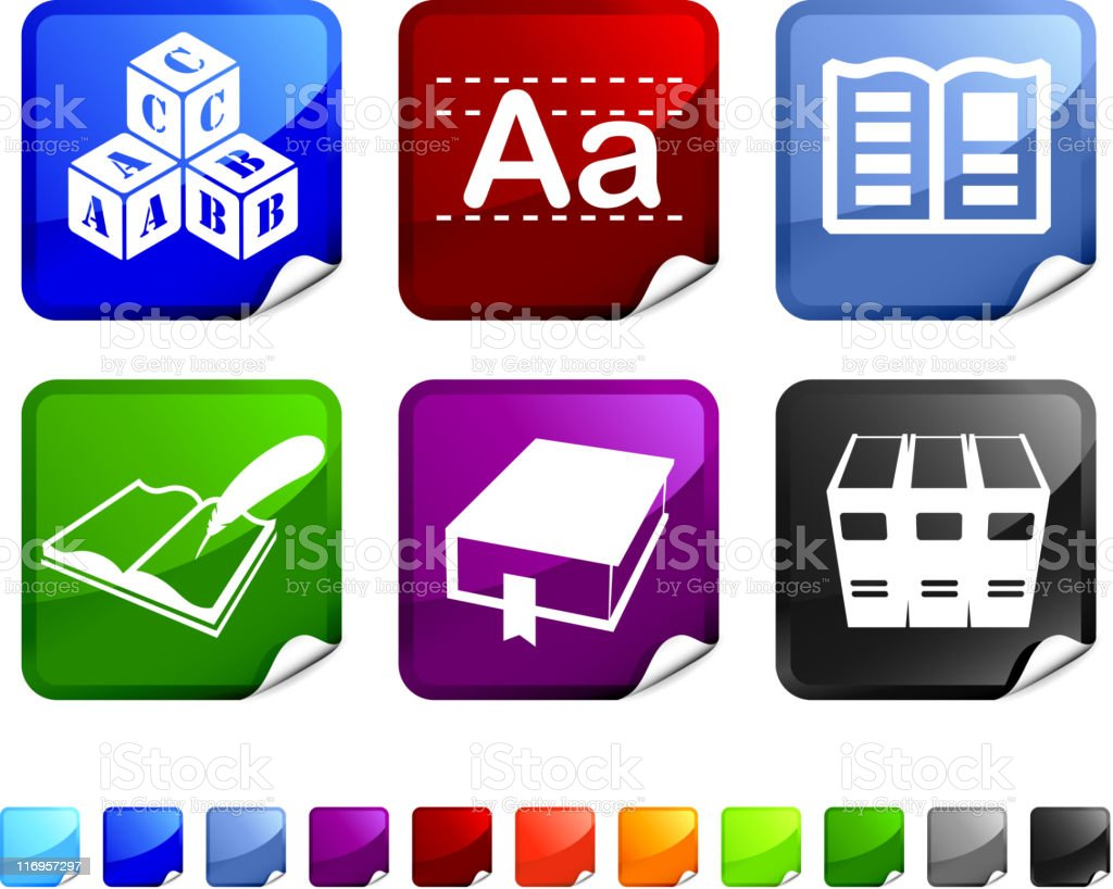 reading and literature royalty free vector icon set royalty-free stock vector art