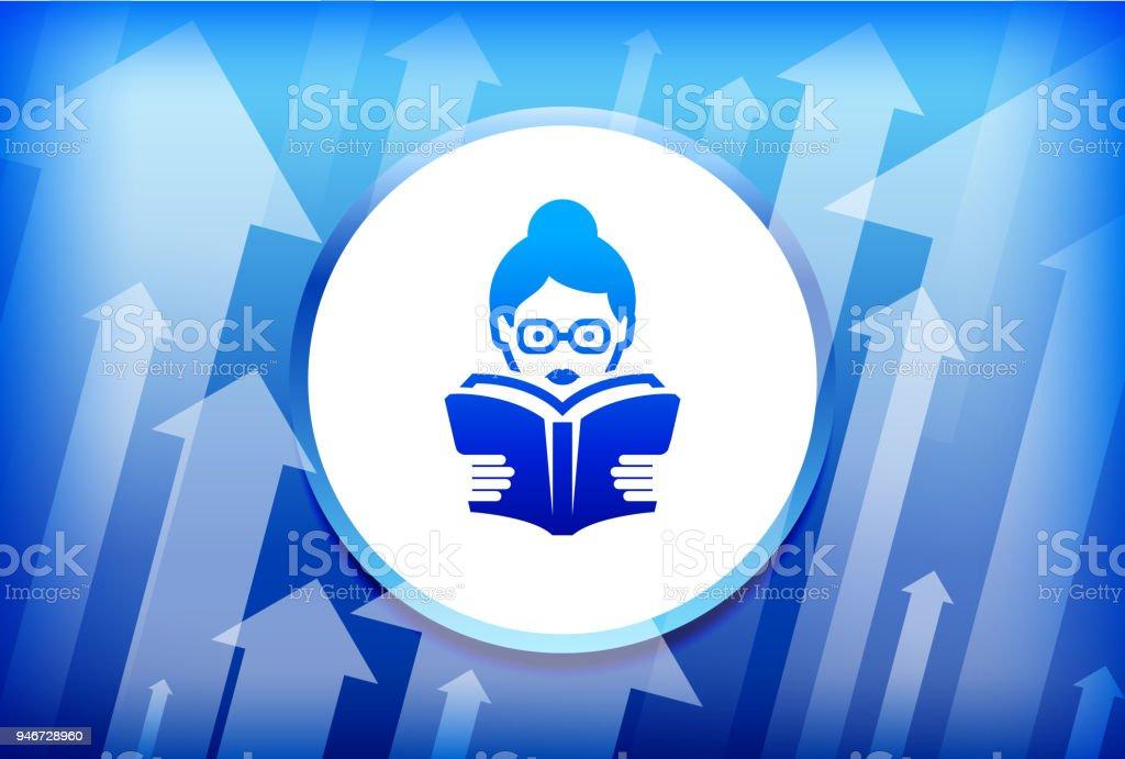 Lecture Livre Bleu Fond De Fleches Vecteurs Libres De Droits