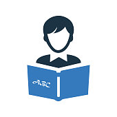 Beautiful design and fully editable Reading book icon, studying, reader vector for commercial, print media, web or any type of design projects.