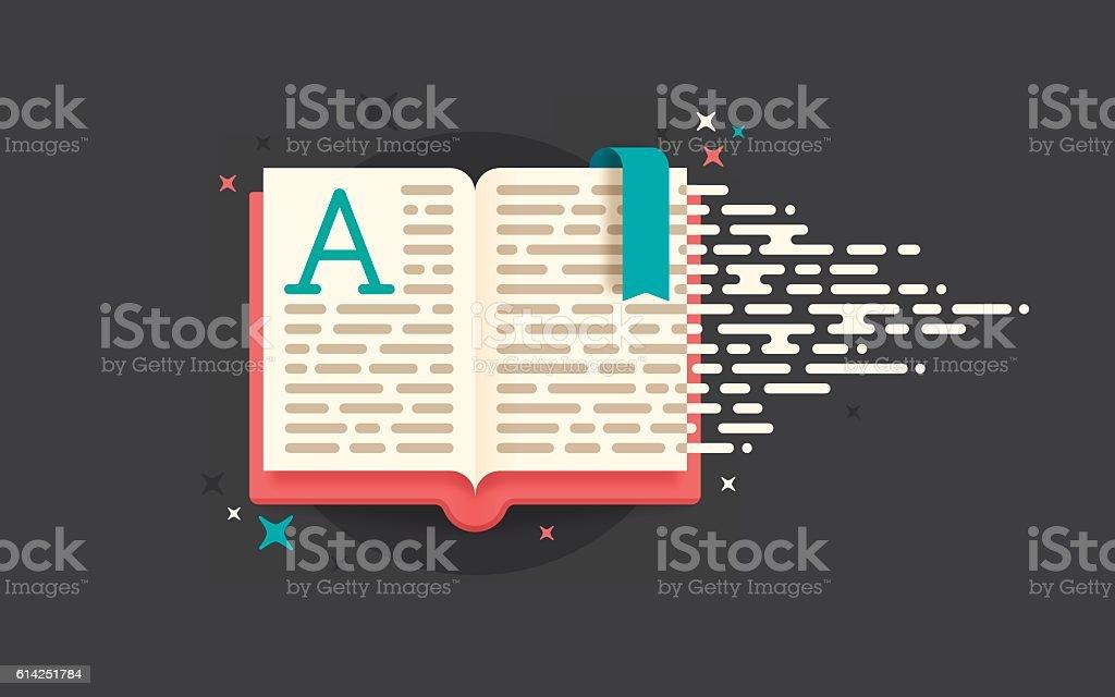 Reading Book vector art illustration