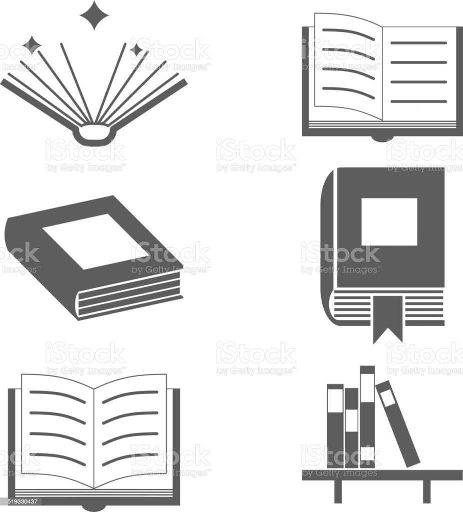 Bücher Zeichen Und Symbole Symbol Vorlage Auf Stilvollen ...
