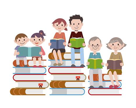 Reading family books