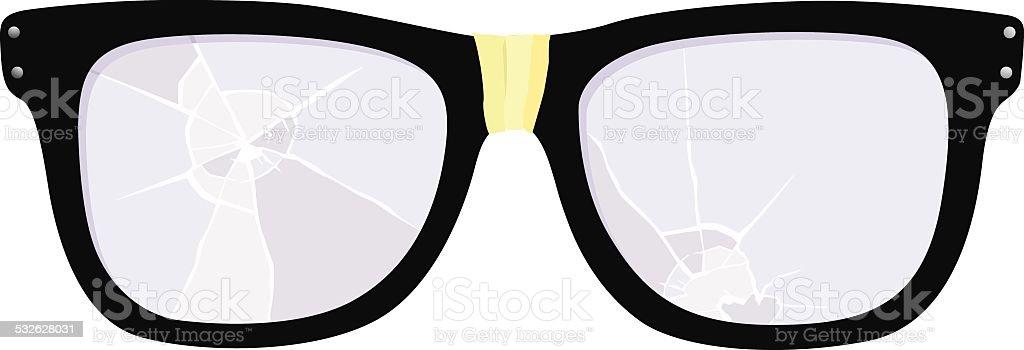 Reading Glasses vector art illustration