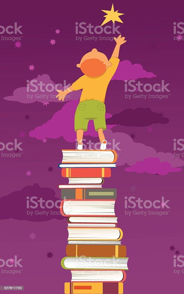 Reading is important vector art illustration