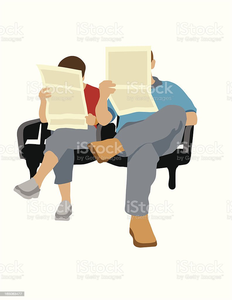 Reading Newspapers royalty-free reading newspapers stock vector art & more images of adult