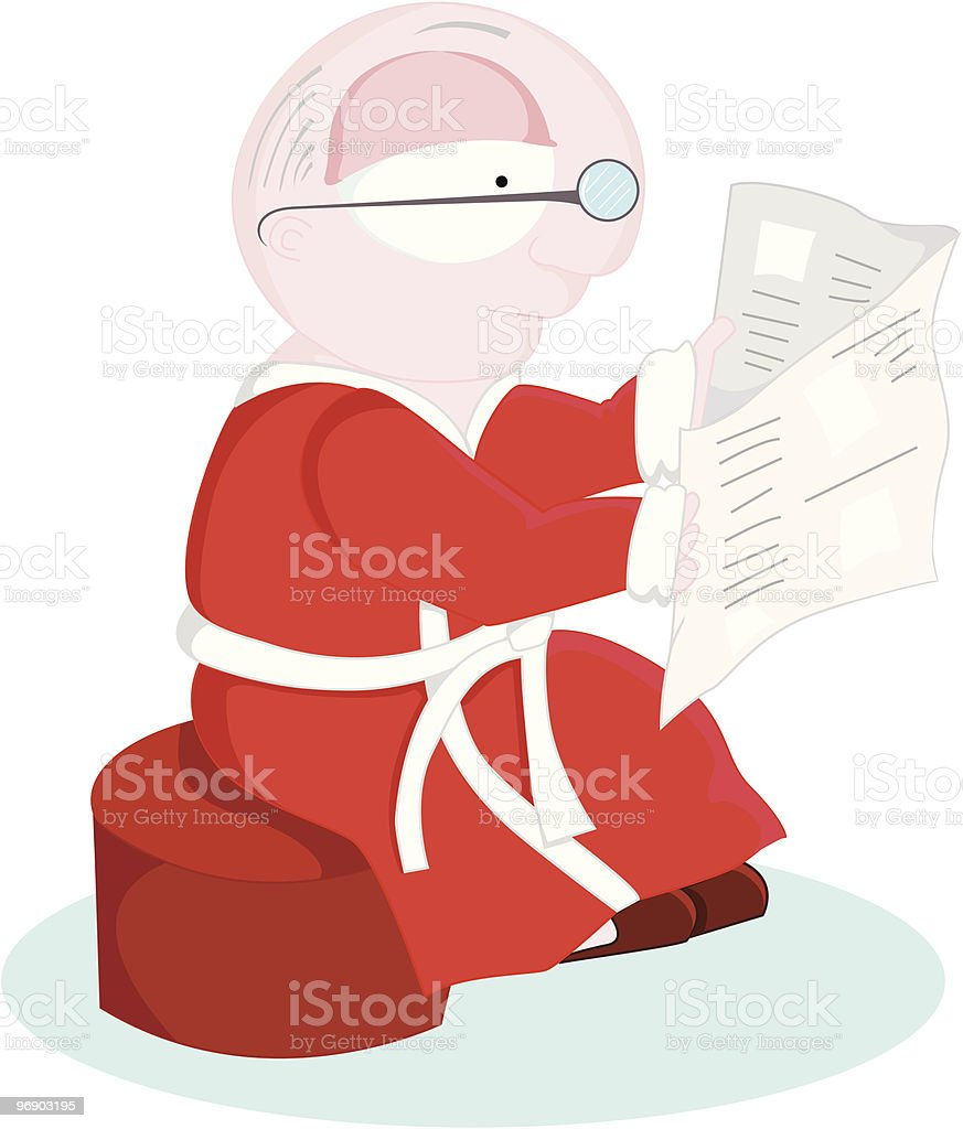 reading the newspaper royalty-free reading the newspaper stock vector art & more images of 70-79 years