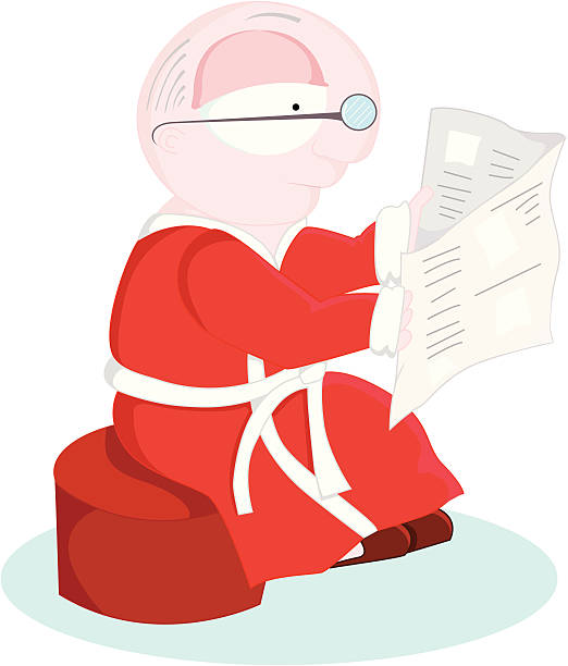 reading the newspaper - old man slippers stock illustrations, clip art, cartoons, & icons