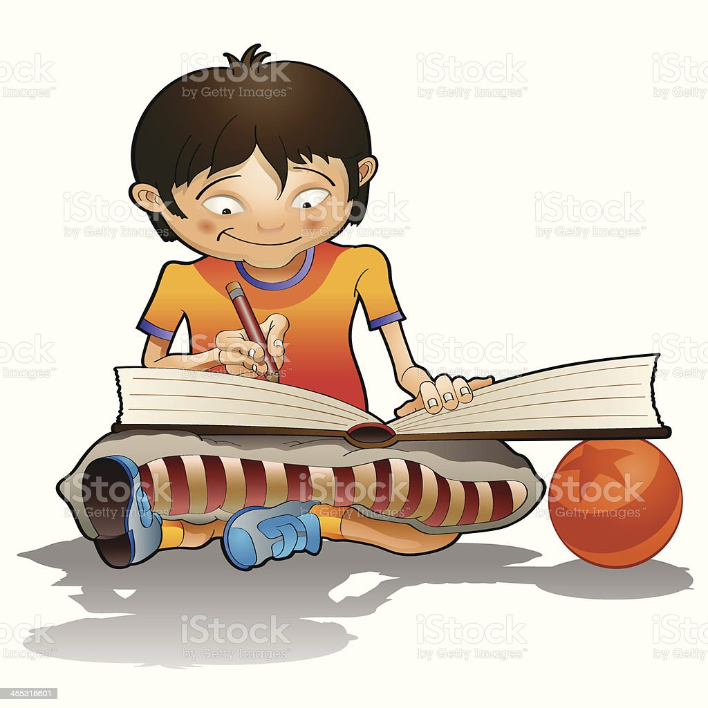 Reading Time vector art illustration