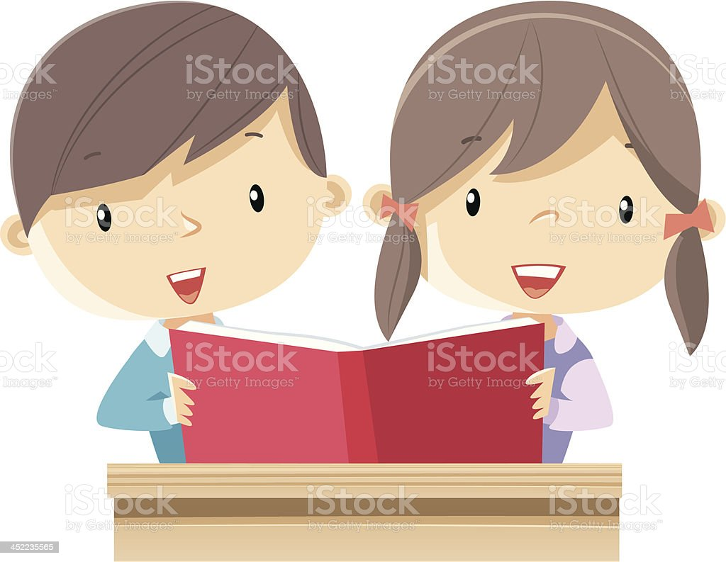 Reading royalty-free reading stock vector art & more images of 4-5 years