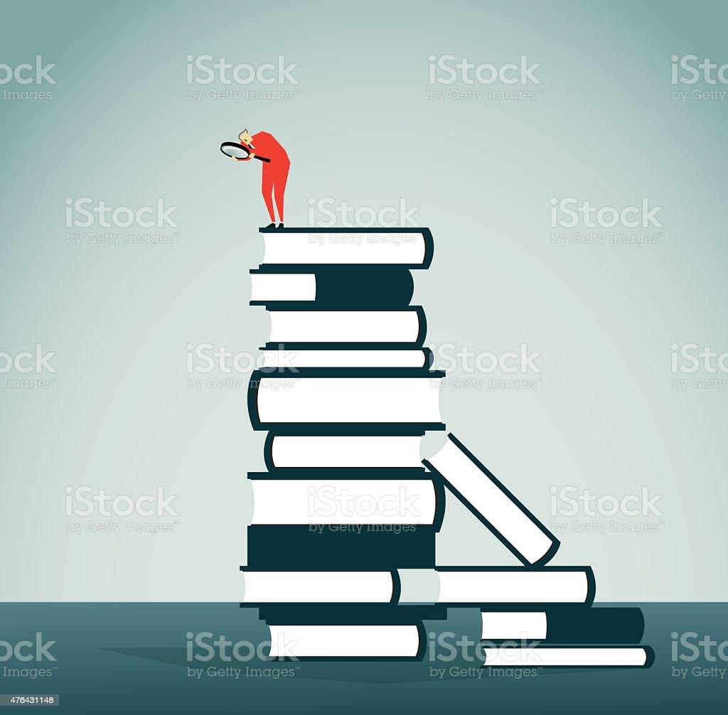 Reading vector art illustration
