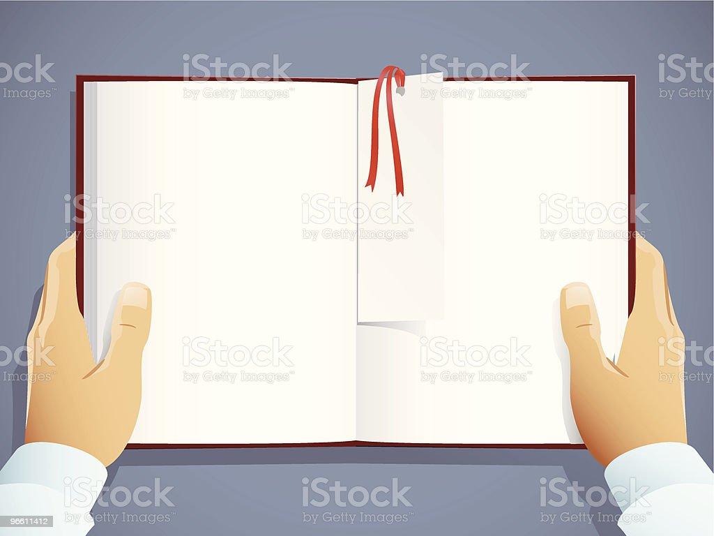 A leitura - Royalty-free Aberto arte vetorial