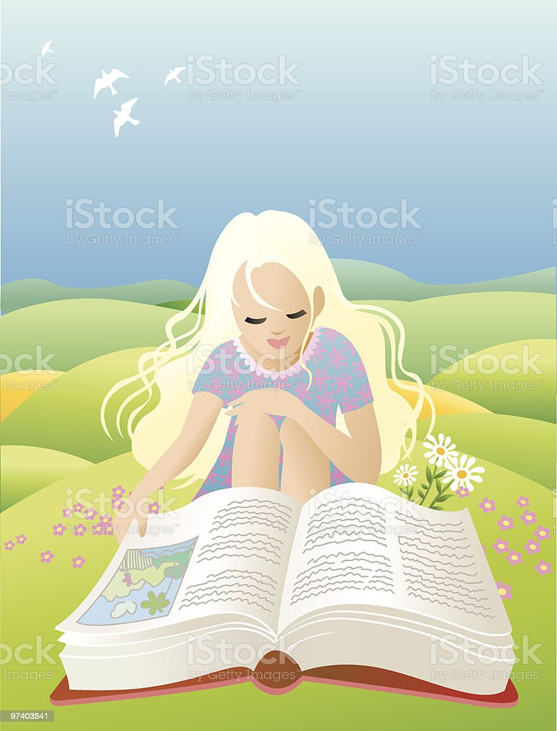 Reading royalty-free reading stock vector art & more images of beauty in nature