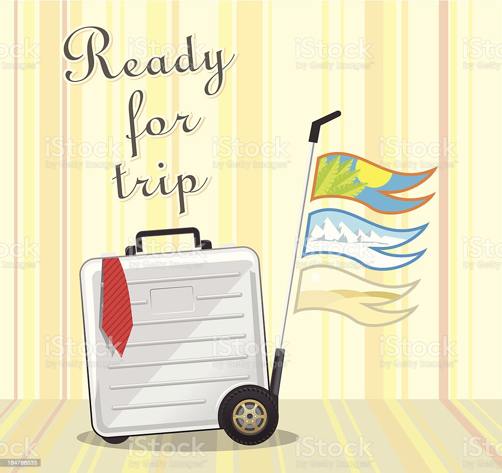 Ready for trip royalty-free stock vector art