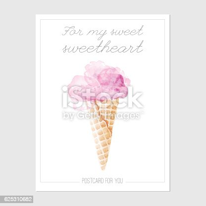 istock Ready postcard with ace cream 625310682
